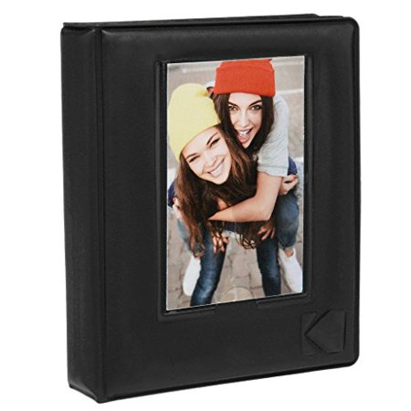 "- KODAK 2x3 Photo Album – 64-Pocket Mini Photo Album w/ Transparent Window Cover for 2""x3"" ZINK Zero Ink Photo Paper – Perfect for KODAK Printomatic, Mini Shot & Mini 2 Instant Cameras – Black"