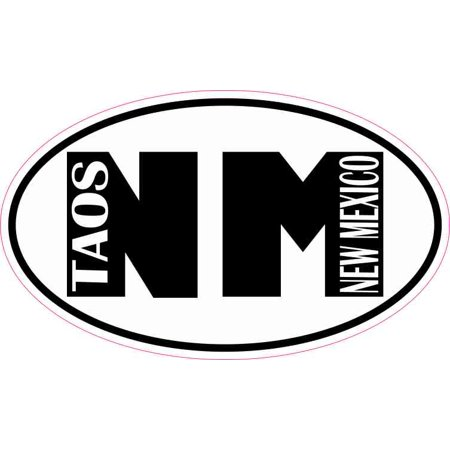 5in x 3in Oval NM Taos New Mexico Sticker