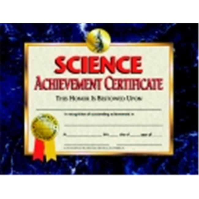 Hayes 8. 5 x 11 inch Science Achievement Certificate, Pack 30