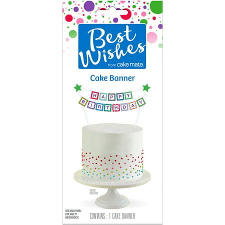 Best Wishes By Cake Mate Banner 1 Pkg Rainbow Happy Birthday