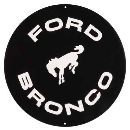 Broncos Decor (Ford Bronco Embossed Metal)