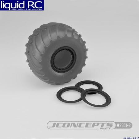 JConcepts 2651-2 Tribute Wheel Mock Beadlock Rings-glue-on 4pc - Rear Beadlock Ring