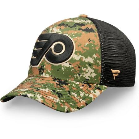 Military Flyers - Philadelphia Flyers Fanatics Branded Authentic Pro Military Appreciation Speed Flex Hat - Camo