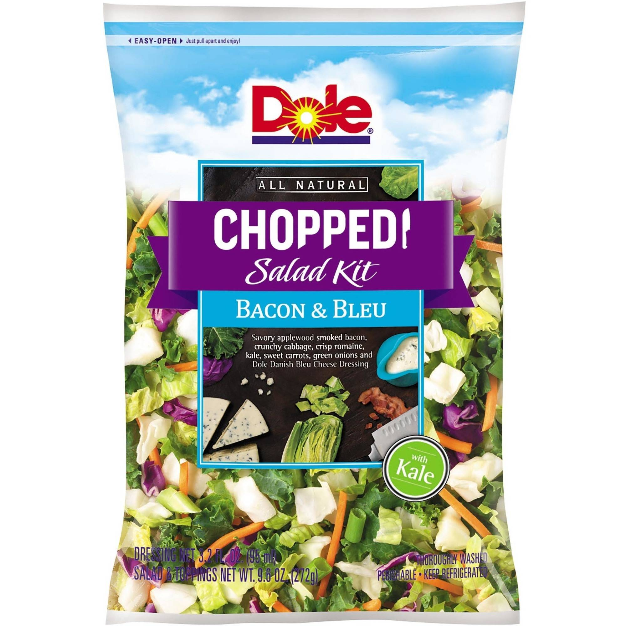 Dole Chopped Bacon & Blue Salad Kit, 2 pc