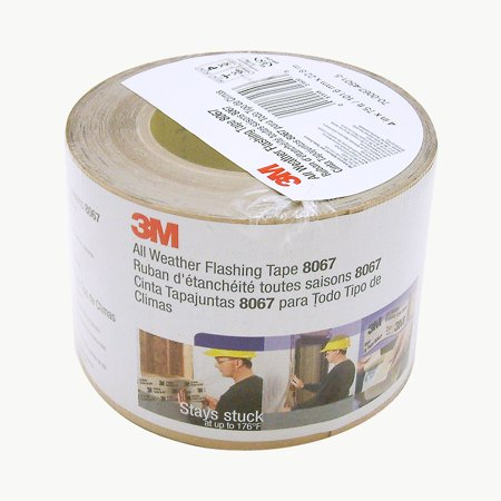 3M Scotch 8067 All Weather Flashing Tape: 4 in  x 75 ft  (Tan)