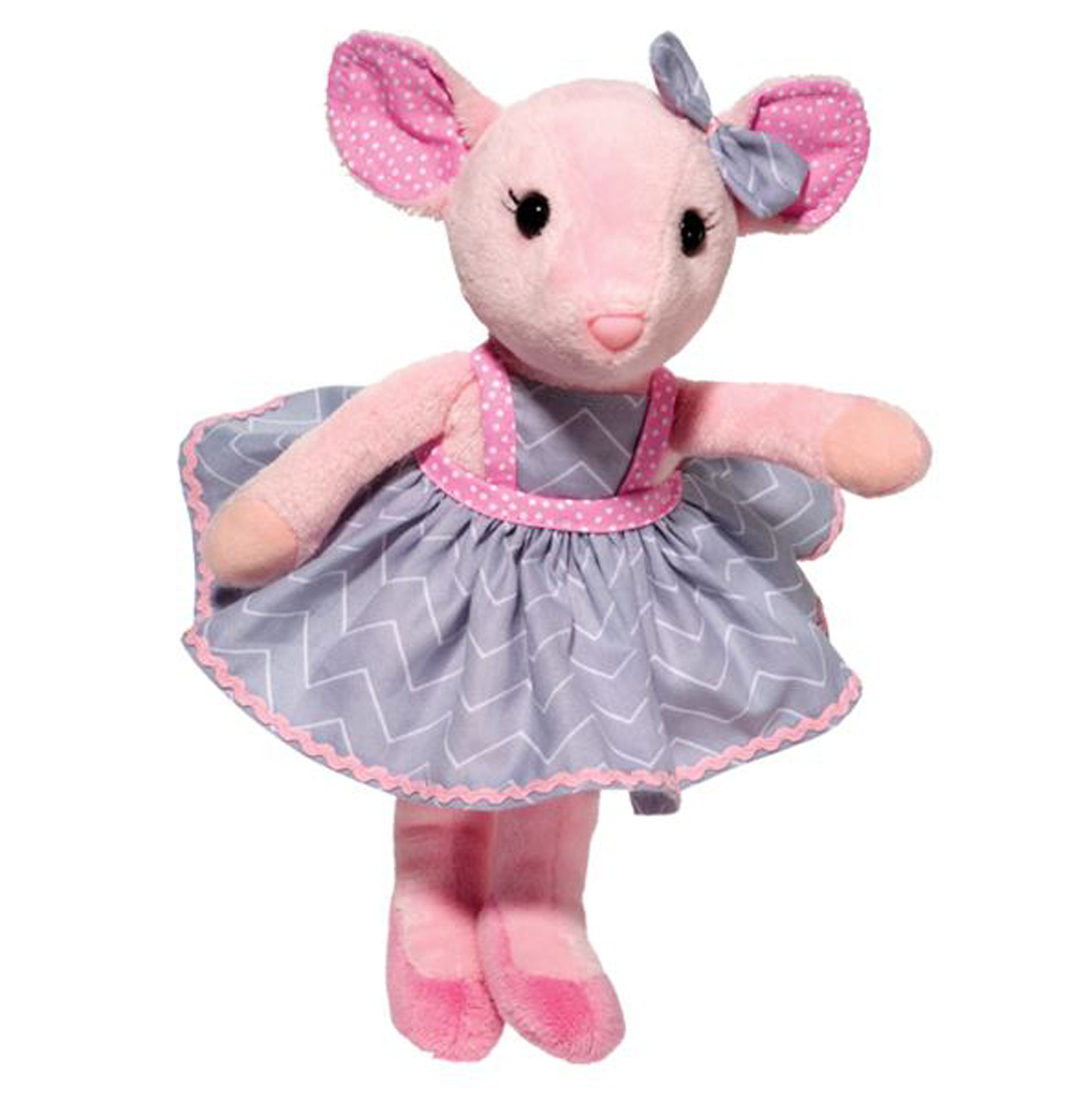 "Douglas Cuddle Toys Madeline Pink Mouse, 10"" by DOUGLAS-2354"