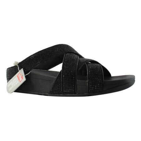 ec4885e2e8ba FitFlop - FitFlop Womens Black Slide Sandals Size 10 New - Walmart.com