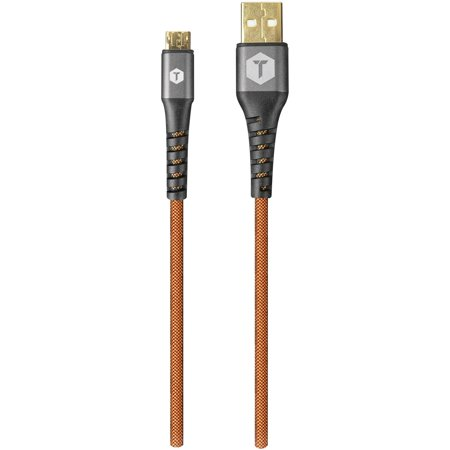 ToughTested TT-PC8-MC2 PRO Armor Weave Micro USB Cable with Slim Tip, 8ft