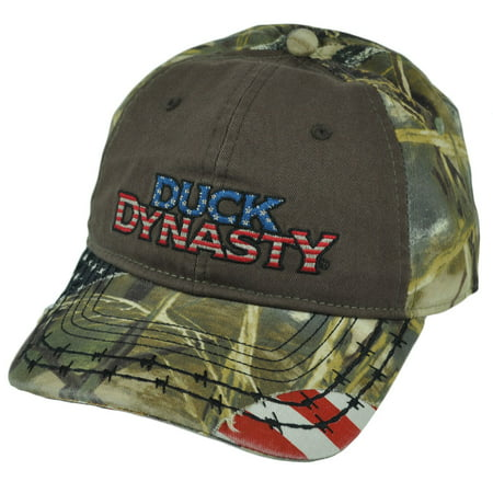 (Duck Dynasty Realtree A&E Series Frayed Americana  Distressed Camo Hat Cap)
