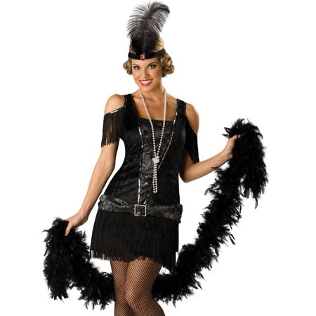 In Character Ladies Flapper Roaring 20s Outfit Halloween Costume