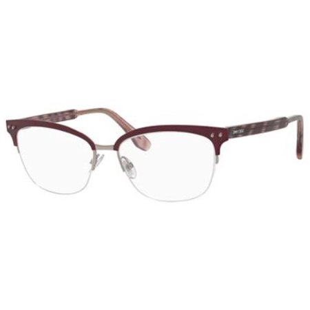 - JIMMY CHOO Eyeglasses 138 0LYG Matte Burgundy 53MM