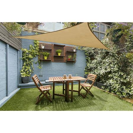 Mllieroo 12 X Triangle Sun Shade Sail Sand Uv Block Perfect For Outdoor Patio Garden Desert