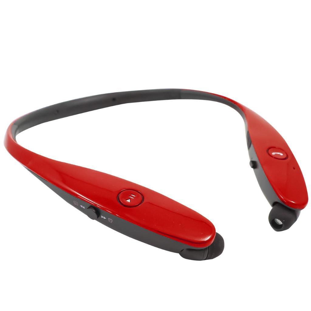 Retractable Stereo Wireless Bluetooth Headset/ Headphones for LG G6,Aristo 2,Tribute Dynasty,Asus ZenFone V Live,Vivo V7 (Blue)