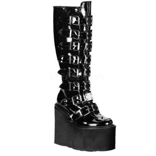 SWI815 B Demonia Vegan Boots Womens BLACK Size: 10 by