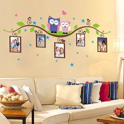 AA386 Scenic Landscape Nature Cool Smashed Wall Decal 3D Art Stickers Vinyl Room Kids Bedroom Baby Nursery Poster Livingroom Boys Girls Hole