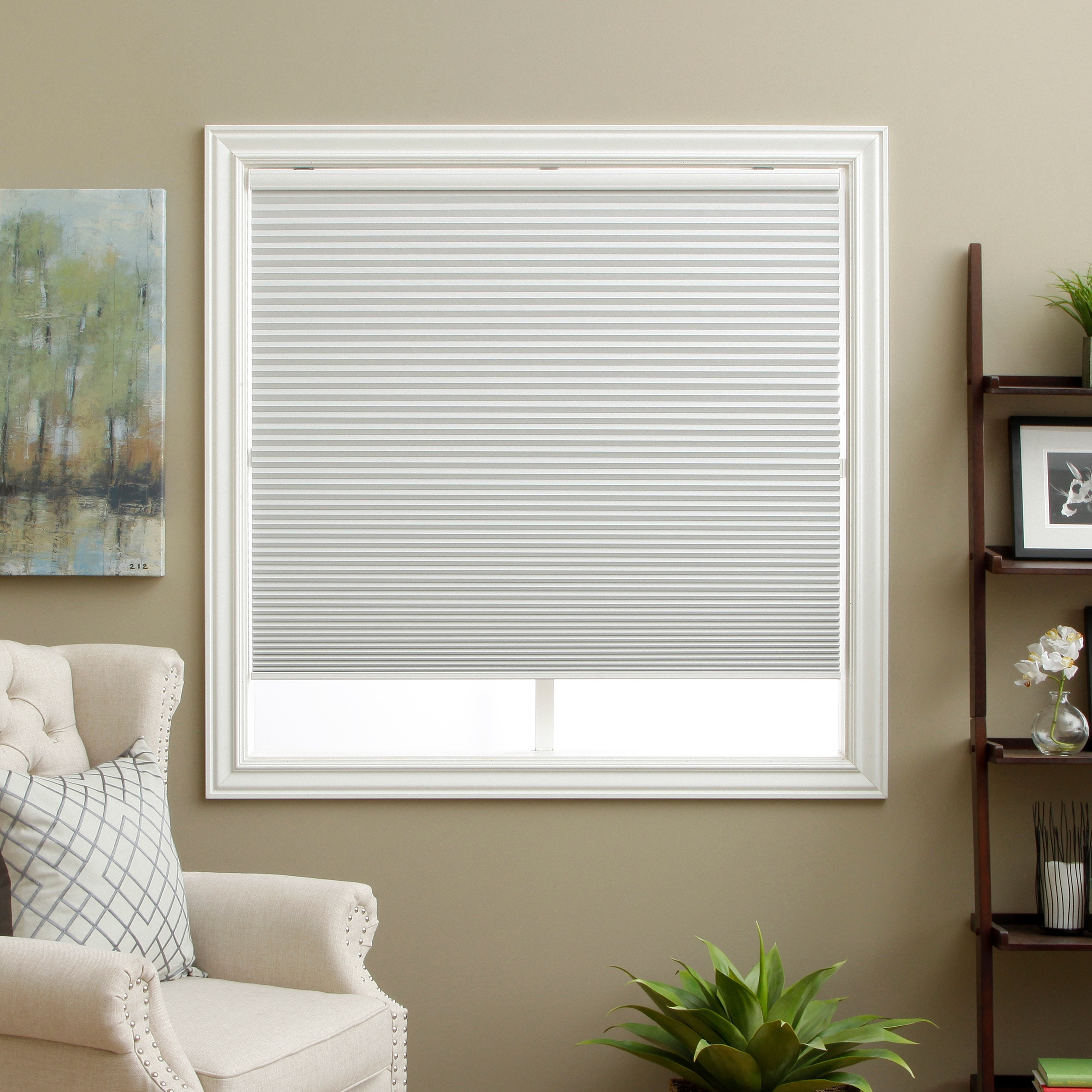Curtains blackout honeycomb shades blackout shades blinds blinds and - Arlo Blinds Honeycomb White Cell Blackout Cordless Cellular Shades Walmart Com