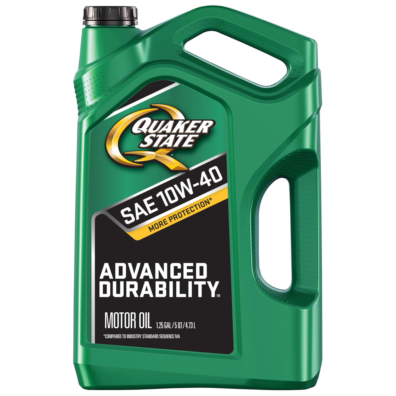 Quaker State 10W-40 Advanced Durability Motor Oil, 5 qt