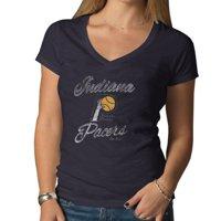 '47 Brand Indiana Pacers Women's Hardwood Classics V-Neck Scrum T-Shirt - Navy Blue