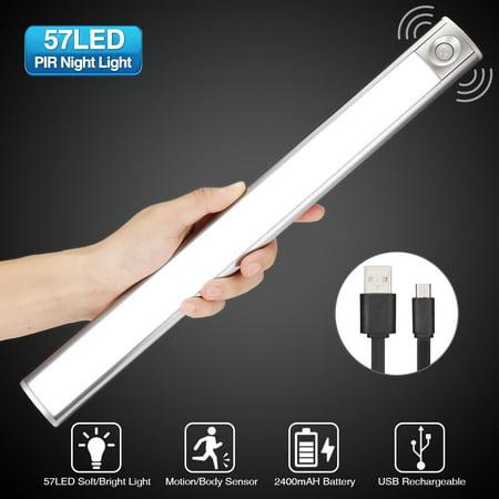 Led Closet Light Motion Sensor Under Cabinet Lighting 57 3modes Usb Magnetic Tape Stick Wireless Security Lights For Garage Kitchen Wardrobe