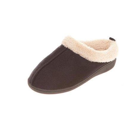 Seranoma Women's Faux Fur Comfort Slip On Memory Foam Indoor Clog House Slippers