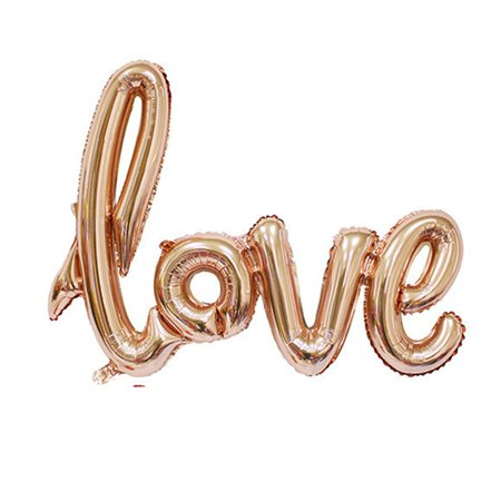 Love Foil Balloon Wedding Anniversary Party Decoration Valentines Champagne gold (Valentine Champagne)