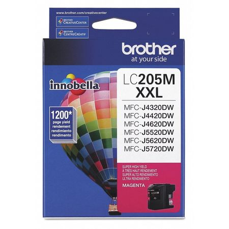 BROTHER LC205M Ink Cartridge,1200 Page-Yield,Magenta G5202097