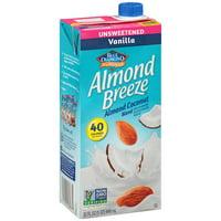 (4 pack) Almond Breeze Almondmilk, Unsweetened Vanilla Almond Coconut Blend, 32 fl oz