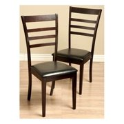 Crystal Leather Dining Room Chairs - Set of 2