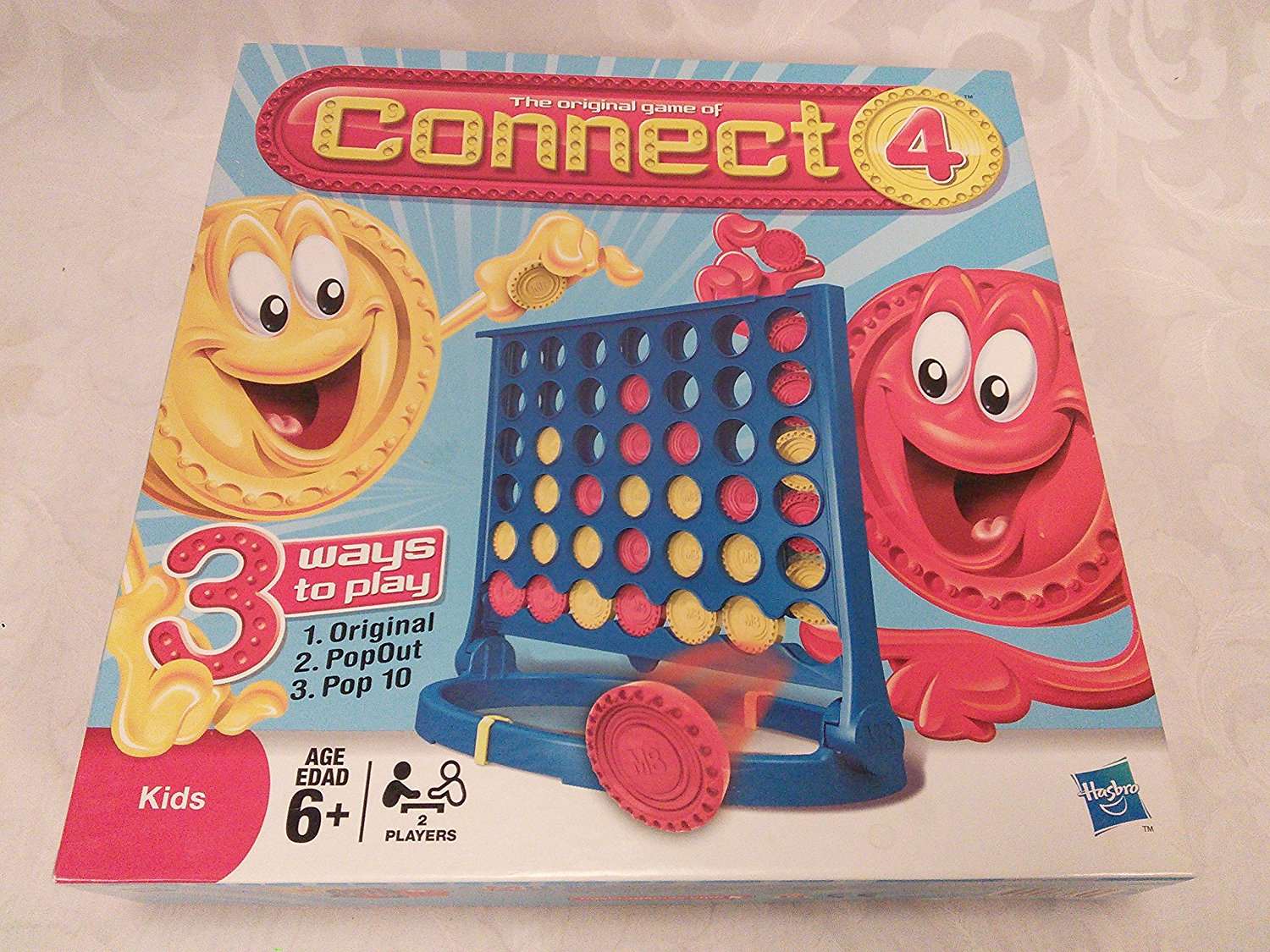 The Original Game Of Connect 4 For Kids 2008 Hasbro MB Games, Ages from 6 By Milton Bradley by