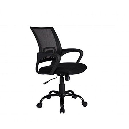 black ergonomic mesh computer office desk midback task chair w metal