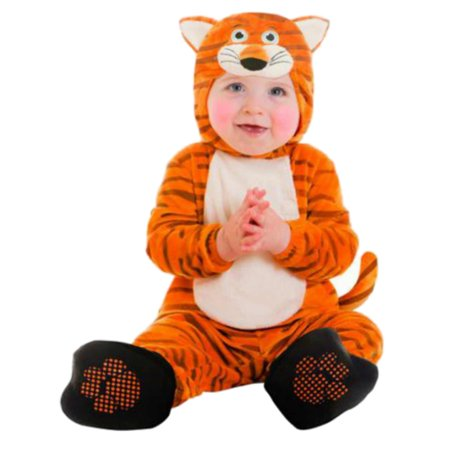 Goodmark Infant Boys & Girls Tiger Costume Plush Orange Baby Cat Suit (Cat Tiger Costume)