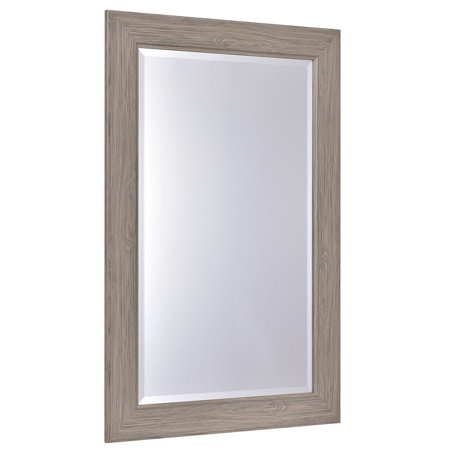 """23.5"""" x 35.5"""" Rectangle Wooden Frame Wall-mounted Vanity Mirror"""