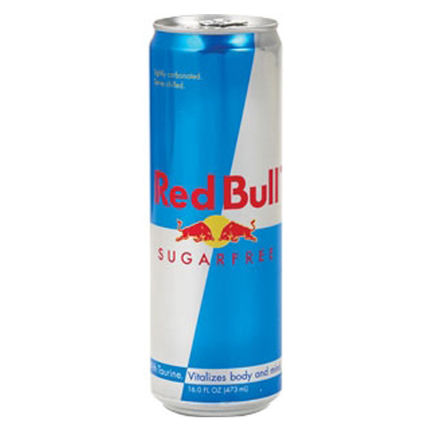 Red Bull Sugar Free Energy Drink 16 oz Cans *12