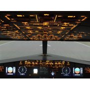 Canvas Print Airbus A320 Overhead Cockpit Simulator Stretched Canvas 10 x 14