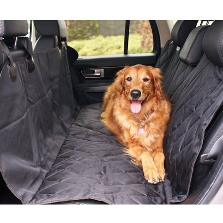 "Dog Car Seat Covers,Dog Seat Cover Pet Seat Cover for Cars, Trucks, and Suv - Black, 100% WaterProof 54""x58"""