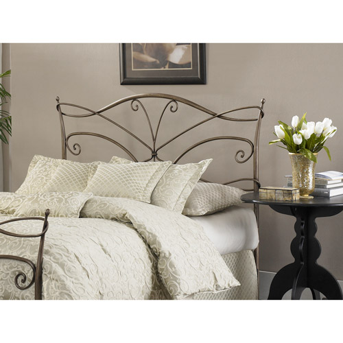 Fashion Bed Group Papillon King Duo Panel, Brushed Bronze