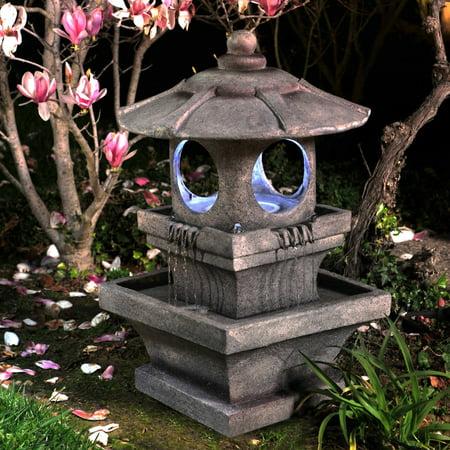 Bond Mikio Lighted Garden Outdoor Fountain Pineapple Garden Fountain