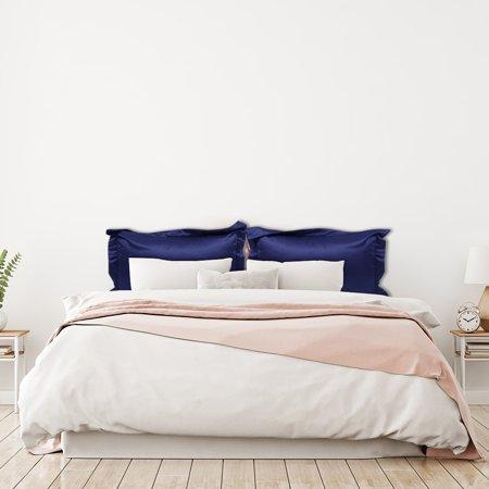 Piccocasa Luxury Silky Satin 2 Piece Queen Pillowcases