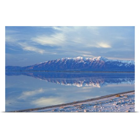 Great Big Canvas Howie Garber Poster Print Entitled Great Salt Lake And Northern Wasatch Mountains  Salt Lake City  Utah