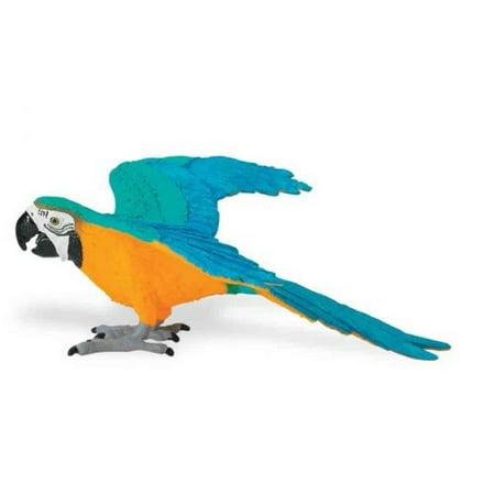 Safari Ltd Wings of the World Blue and Gold Macaw - Blue Safari