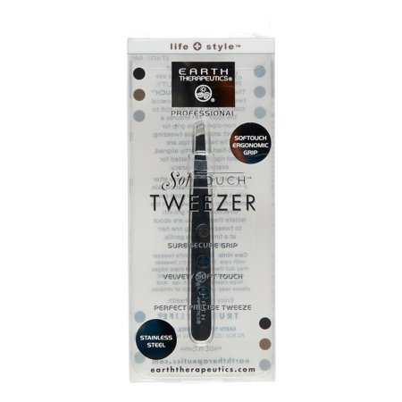 Earth Therapeutics Softouch Tweezer Black 1 Unit