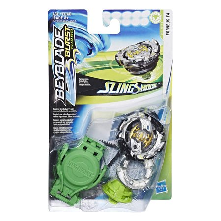 Turbo Launcher (Beyblade Burst Turbo Slingshock Starter Pack, Forneus F4 Top and Launcher)