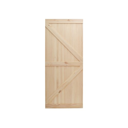 Calhome Knotty Pine Wood Unfinished Slab Door