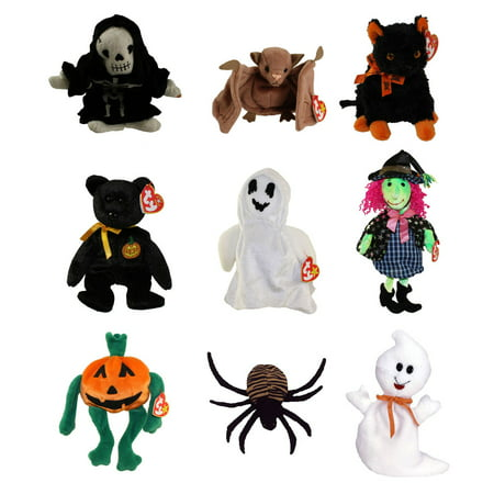 TY Beanie Babies - HALLOWEEN (Set of 9)(Sheets, Batty, Haunt, Fraidy, Scary, Spooky +3)(4-9 in) - Scary Baby