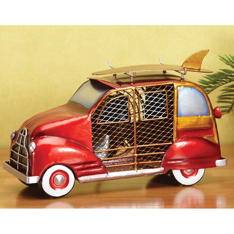 Woody Car Figurine Fan in Red and Goldish Brown Finish