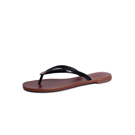 dc7e11c25b9 Tory Burch - Tory Burch Terra Thong Flip Flops Leather Thong Sandals ...