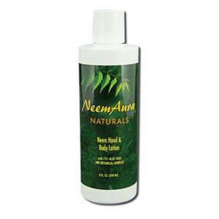 Neem Aura Hand And Body Lotion With Aloe Vera, 8 fl