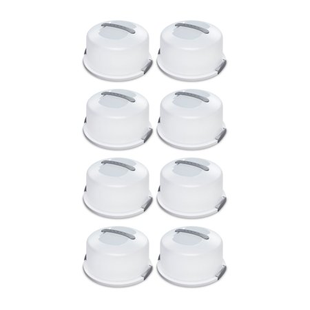 Sterilite Portable Latching Cake Server Carrier Keeper w/Handles, One (8 Pack) ()