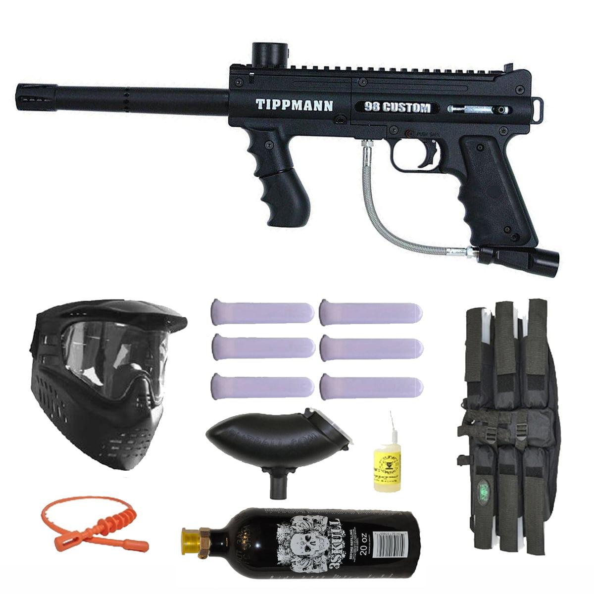 Tippmann 98 Custom PS Paintball Marker Gun 3Skull Mega Set by