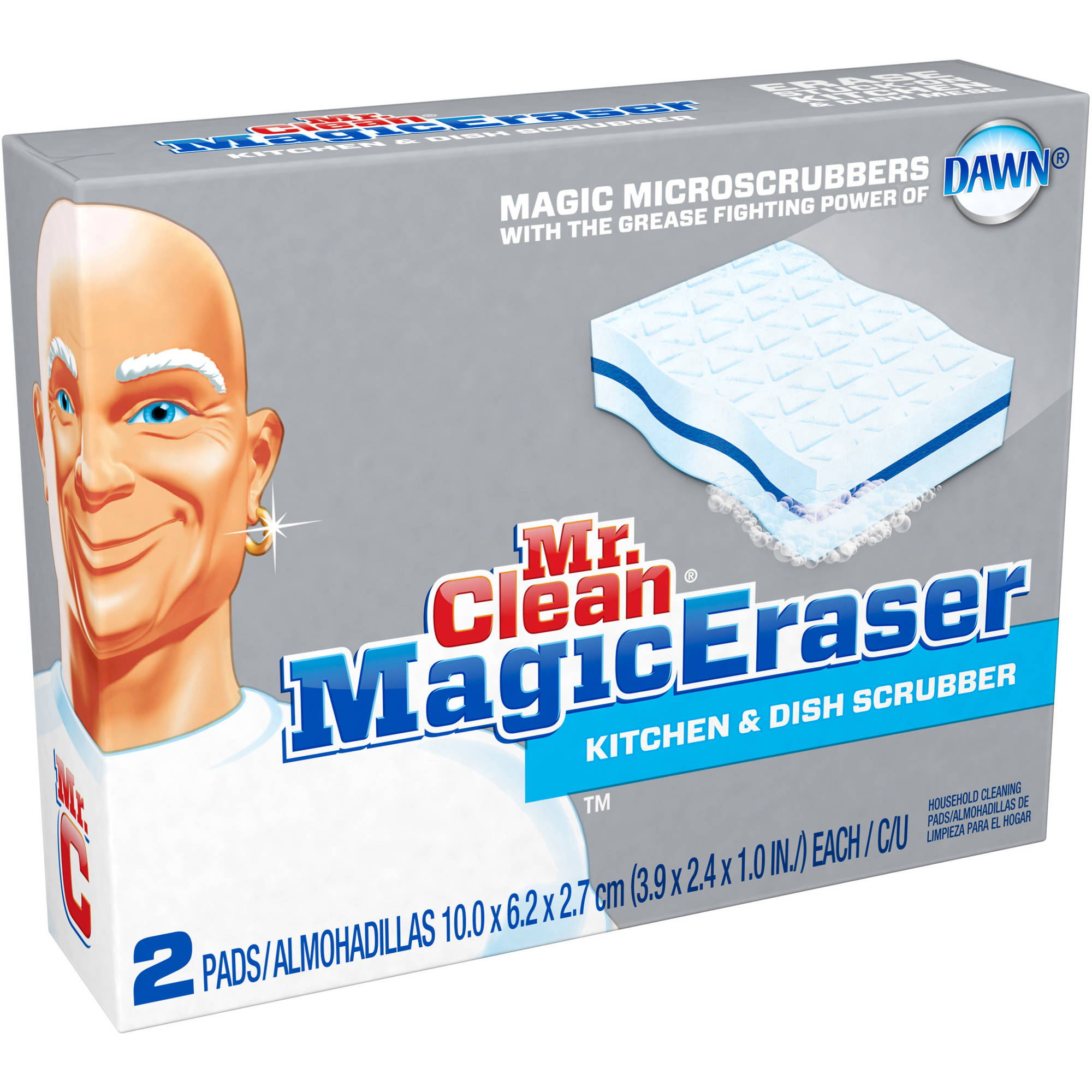 Mr. Clean Magic Eraser Kitchen Scrubbers, 2ct
